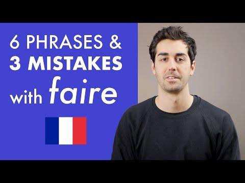 6 frází a 3 chyby se slovesem FAIRE - Lekce francouzštiny