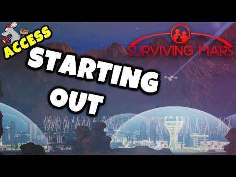 SURVIVING MARS Xbox One X Gameplay PT 1 - STARTING OUT!