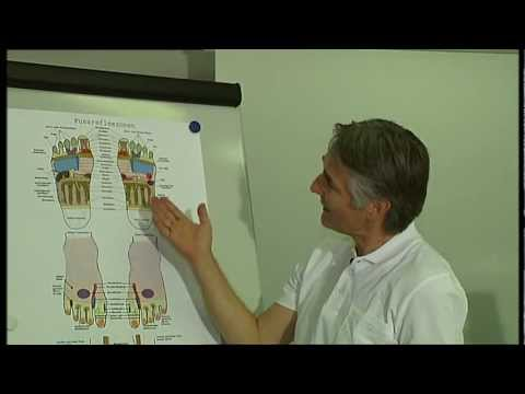 Die Entzündung des Kernes neben dem Daumen auf dem Bein