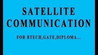 satellite communication in hindi