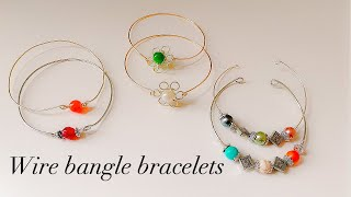 Diy Wire Wrapped Bangle Bracelets/simple And Beautiful Handmade Wire Bracelets/handmade Jewelry