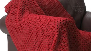 Crochet Bernat Red Blanket Pattern