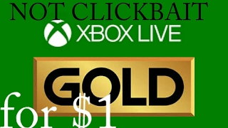 How to Get Xbox Live Gold for 1 dollar on Xbox One working 100% LEGIT 2017 APRIL