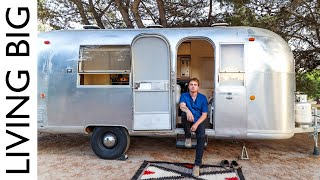Retro Airstream Renovated Into Stylish Modern Tiny House