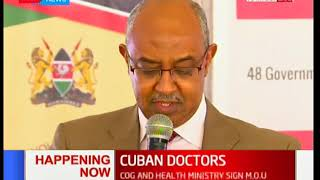 COG to sign MOU with Ministry of health to govern operations of Doctors from Cuba