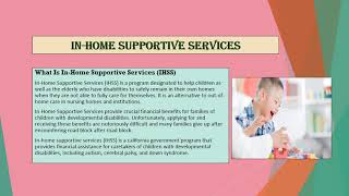 In Home Supportive Services California
