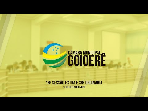 16ª Sessão Ordinária e 38ª Sessão Ordinária | 2020
