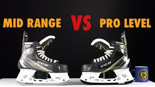 Mid range vs Top Pro Level hockey skates comparison - What is the difference
