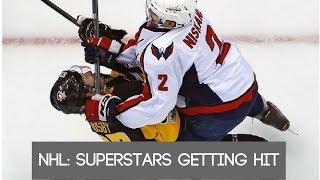 NHL: Superstars getting hit