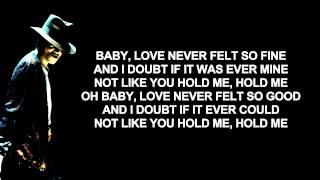 Michael Jackson Ft Justin Timberlake - Love Never Felt So Good | Lyrics On Screen