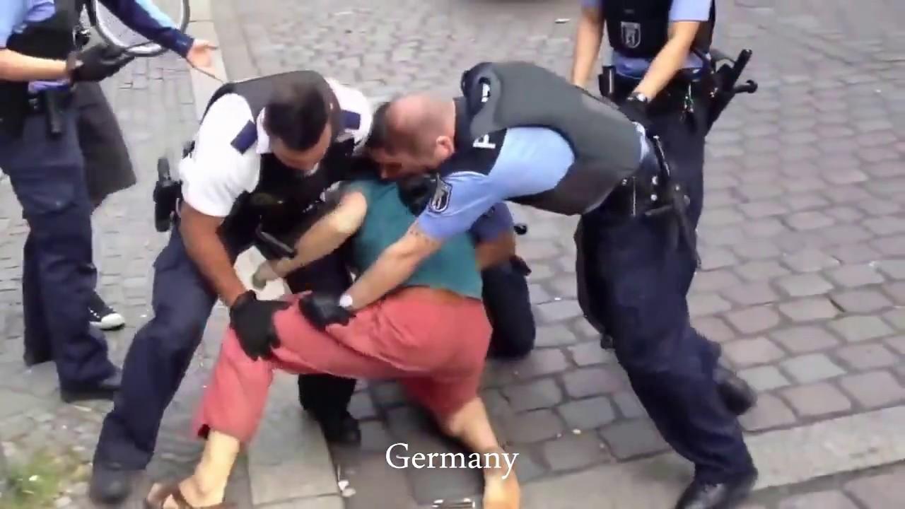 Как полицейские разных стран реагируют на сопротивление аресту