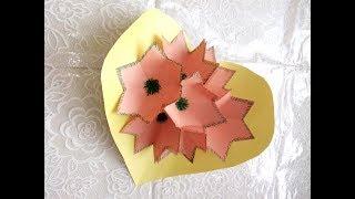 DIY Flower Pop Up Card Paper Crafts|Handmade Craft|Pop Card:Heart|Valentine's Day Heart  Pop-Up Card - Video Youtube