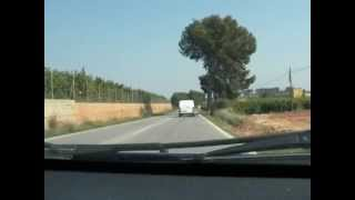 preview picture of video 'Road from Monserrat to Valencia city, Spain, March 2012'