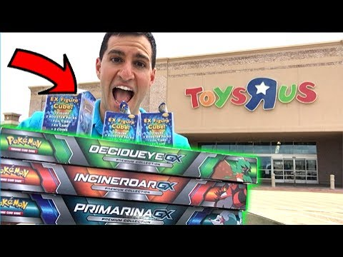 MASSIVE POKEMON CARDS HAUL FROM TARGET, WALMART AND TOYS R US!