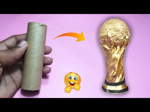 World Cup Trophy | How to make a World Cup Trophy from cardboard role |  360 DIY