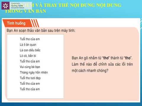 Tin học 6 - Chủ đề 11: Chỉnh sửa văn bản