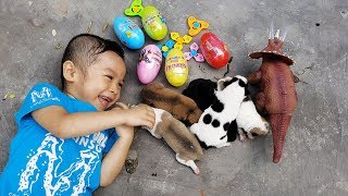 Dinosaur Surprise Eggs Opening – Săn Và Bóc Trứng Khủng Long ❤ ChiChi ToyReview TV ❤ Đồ Chơi Bài Hát
