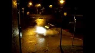 preview picture of video 'Unwetter / Gewitter in Neschwitz, Kreisverkehr 02.07.2012'