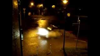 preview picture of video 'Unwetter / Gewitter in Neschwitz, Kreisverkehr 02.07.2012'