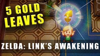The Legend of Zelda Link's Awakening Switch 5 Golden Leaves