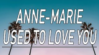 Used To Love You - Anne-Marie (Lyrics)