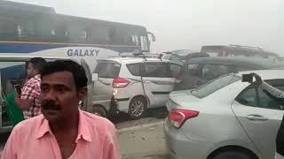 MASSIVE VEHICLES COLLISION IN DELHI DUE TO FOG