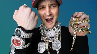 My $30,000 FAKE Rapper JEWELRY COLLECTION!! (WORLDS BIGGEST?!)