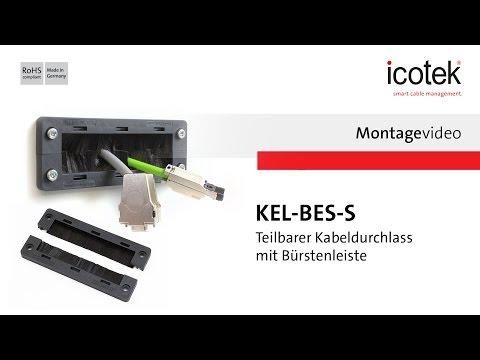 Teilbarer Kabeldurchlass mit Bürstenleiste KEL-BES-S | Montage | icotek