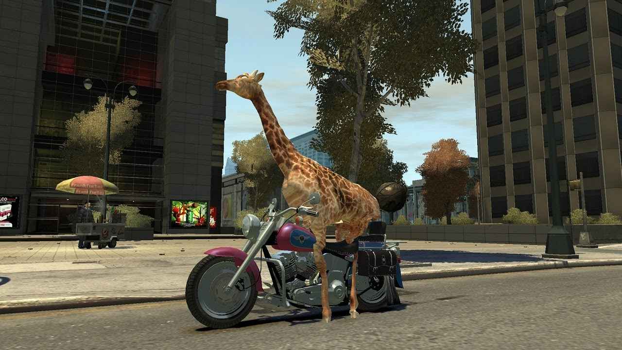 Grand Theft Auto's Greatest Danger Is A Giraffe Driving A Sports Car