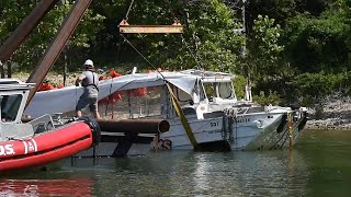 'Ride The Ducks' boat recovered from bottom of Table Rock Lake