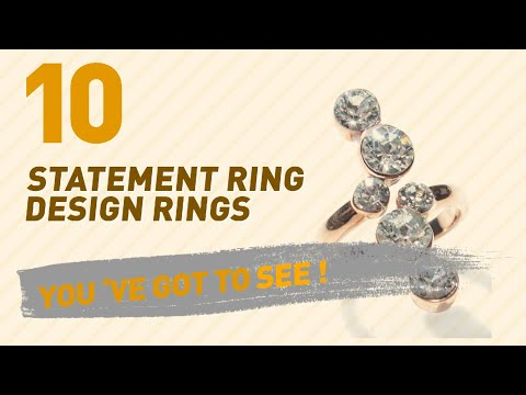 Statement Ring Design Rings Top 10 Collection // UK New & Popular 2017