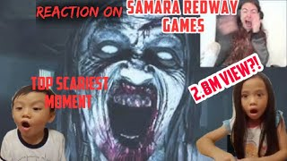 Eliza & Noah reacting to Samara Redway Games (TOP SCARIEST GAMING MOMENTS!!) | Funny | scary | fun |