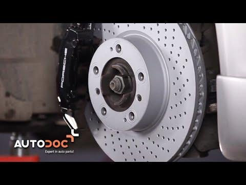 Wie PORSCHE 911 CARRERA Bremsscheiben vorne und Bremsbeläge wechseln TUTORIAL | AUTODOC