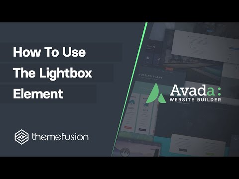 How To Use The Lightbox Element