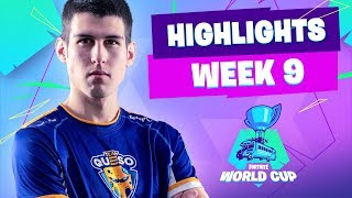 BEST MOMENTS WORLD CUP FORTNITE WEEK 9   Team Queso