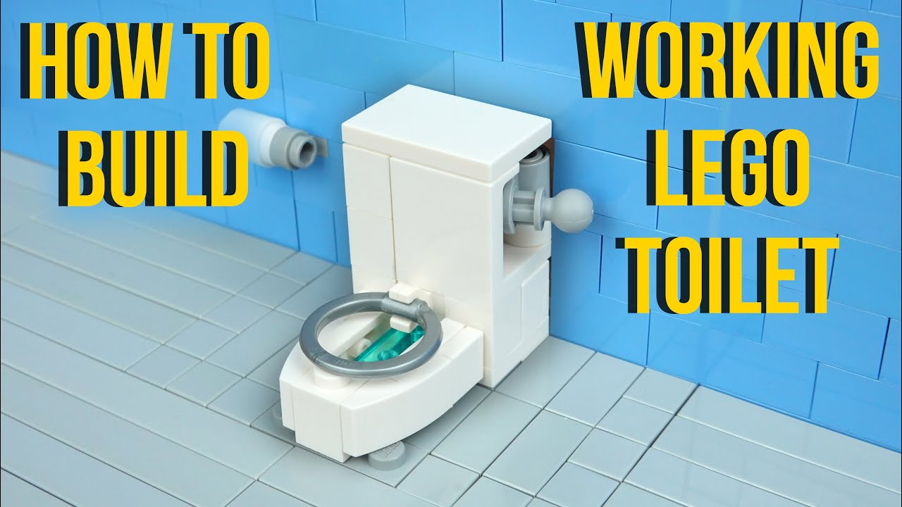 How To Build A Working Lego Toilet - Actually Flushes!