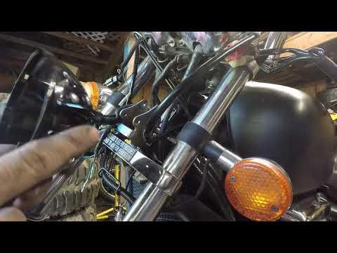 LED headlight installation on 97 (3rd gen) Honda Magna VF750C