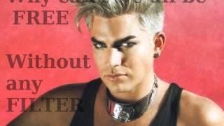 Adam Lambert- Kiss And Tell (lyrics)