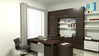 Interior Design - Make Office Room Using Sketchup And Vray 3.4 Part 1