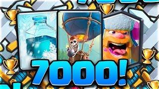 Llegando a 7000 trofeos - Clash Royale
