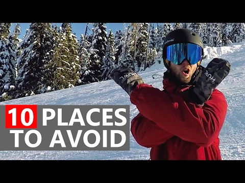10 Places Beginner Snowboarders Need to Avoid!
