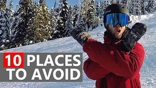 #12 Snowboard begginer – Places begginer snowboarders need to avoid