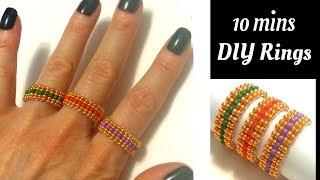 Ring Making Tutorial. Beaded Rings. 10 MINS DIY Rings