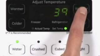 Adjusting Side-bySide Refrigerator Temp Controls - Actual Temp