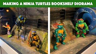 Making an awesome DIY Ninja Turtles Bookshelf Diorama