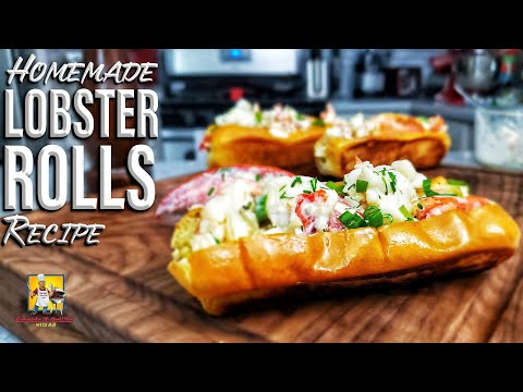 Lobster Rolls on Toasted Brioche Buns
