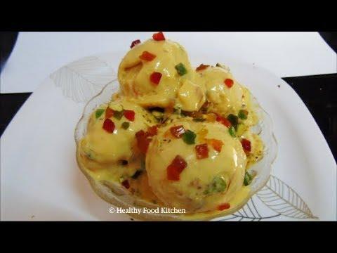 Video Mango Ice Cream Recipe - Homemade Ice Cream Recipe - Easy Ice Cream - Eggless Ice Cream Recipe