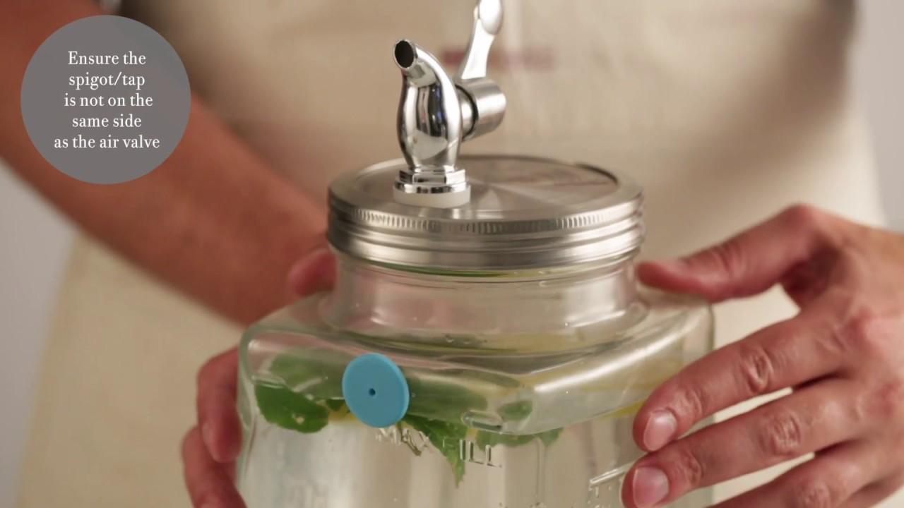 Video - Kilner Koelkast Drank Dispenser 3 Liter