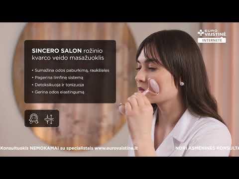 SINCERO SALON rožinio kvarco veido masažuoklis, 1 vnt.