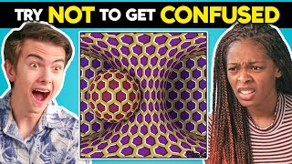 Teens React To Try Not To Get Confused Challenge (Crazy Optical Illusions)